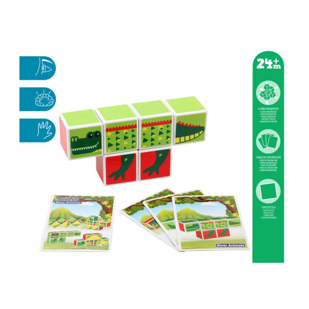 Kiokids Puzzle Magnetico 6 Pezzi Coccodrillo