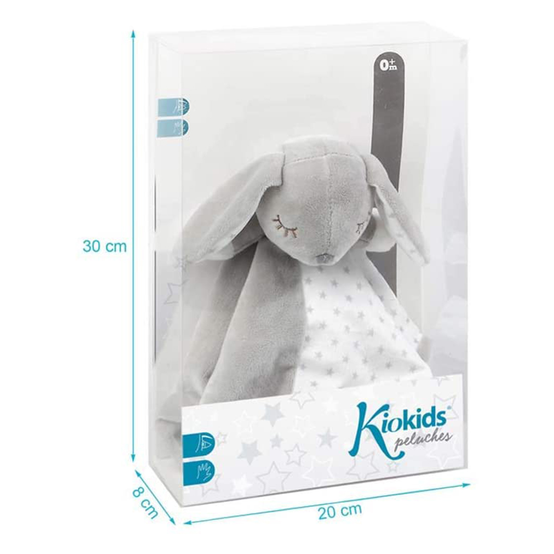 Kiokids doudou coniglietto grigio scatola 30cm